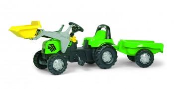rolly toys - rollyKid Deutz-Fahr grün inkl. Lader und Anhänger grün