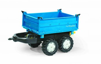 rolly toys - rollyMega Trailer blau mit grauen Felgen - Anhänger
