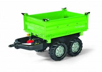 rolly toys - rollyMega Trailer grün mit grauen Felgen - Anhänger