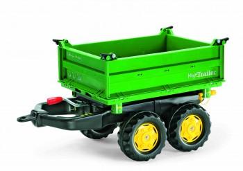 rolly toys - rollyMega Trailer grün mit gelben Felgen - Anhänger