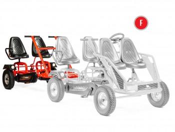 Tender für Dino Cars Gokart  mit Stahlfelgen - das 4-Personen Gokart Proline