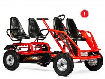 Dino Cars Gokart Train F mit Stahlfelgen - das 4-Personen Gokart