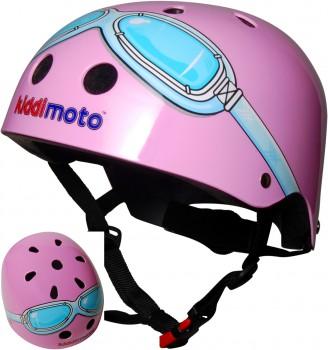 Fahrradhelm Pink Goggle M - Kinder Gokart Helm Kiddimoto