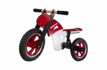 Scrambler Motocross Red / White - Laufrad von Kiddimoto