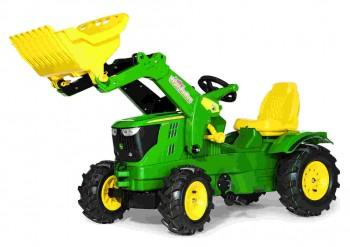 rolly toys - rollyFarmtrac John Deere 6210 R inkl. Ladeschaufel und Luftbereifung
