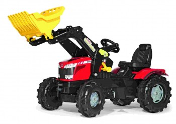 rolly toys - rollyFarmtrec Massey Ferguson 8650 rot mit Ladeschaufel