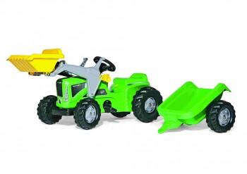 rolly toys - rollyKiddy Futura grün inkl. Lader Anhänger
