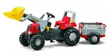 rolly toys - rollyJunior RT rot mit Ladeschaufel und Anhänger
