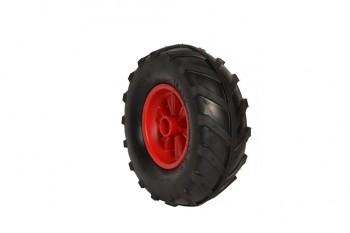 40er Komplettrad Ackerstolle links (Felge rot) - Dino Cars - Ersatzteile