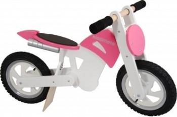 Scrambler Motocross Pink / White -  Laufrad von Kiddimoto