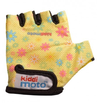 Fahrradhandschuhe Flower M - Kinder Gokart Handschuhe Blumen Kiddimoto