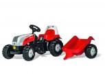 rolly toys - rollyKid Steyr 6165 CVT rot inkl. Anhänger