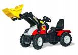 rolly toys - rollyFarmtrac Steyr 6240 CVT rot inkl. Ladeschaufel und Luftbereifung- Farmtrac Classic