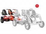Tender für Dino Cars Gokart  mit Stahlfelgen - das 4-Personen Gokart