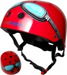 Fahrradhelm Red Goggle M - Kinder Gokart Helm Kiddimoto