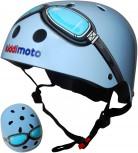 Blue Goggle - Größe M - blauer Pilot Helm von Kiddimoto