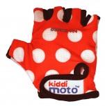 Red Dotty - Größe S - rote Pünktchen Handschuhe von Kiddimoto
