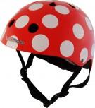 Fahrradhelm Red Dotty M - Kinder Gokart Helm rot Punkte Kiddimoto