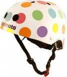 Fahrradhelm Pastel Dotty S - Kinder Gokart Helm bunte Punkte Kiddimoto