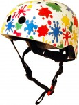 Fahrradhelm Splatz M - Kinder Gokart Helm Farbkleckse Kiddimoto