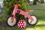 Kurve Red Dotty - Laufrad von Kiddimoto