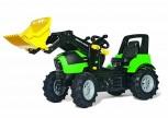 rolly toys - rollyFarmtrac Deutz Fahr grün inkl. Ladeschaufel und Luftbereifung - Premium