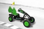 Dino Cars Gokart linostar Greenfighter AF mit Zusatzsitz & Fahne - mit deinem Namen