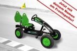 Dino Cars Gokart linostar Greenfighter AF inkl. Zusatzsitz & Fahne - mit deinem Namen