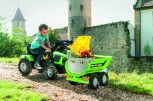 rolly toys - rollyFarmtrac Deutz Fahr grün inkl. Ladeschaufel und Luftbereifung